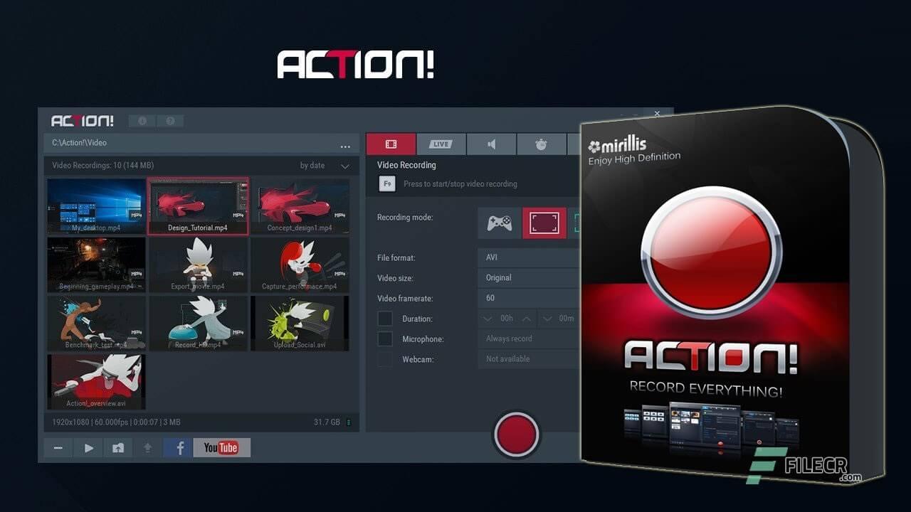 Mirillis Action 4.14.1 Crack With Keys Download 2021