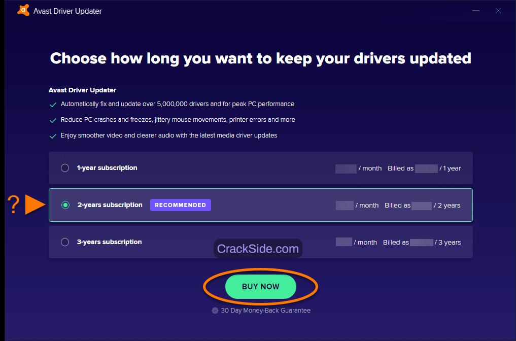 Avast Driver Updater 2.5.8 Crack License Registration Key List till 2038